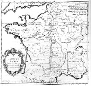 Schéma général de la triangulation réalisée pour mesurer la méridienne de France entre 1683 et 1718