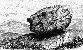 Bloc erratique en Écosse représenté par J. Geikie en 1894