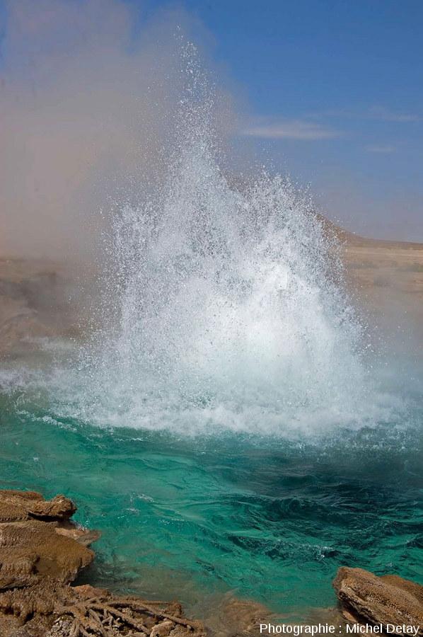 Un geyser en Éthiopie