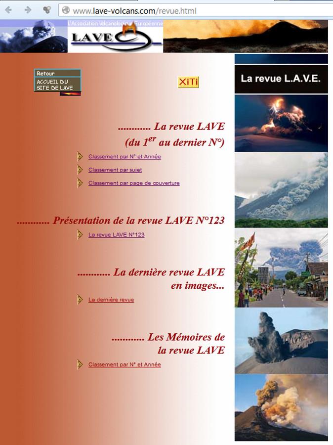 Page d'accueil du site de la revue LAVE