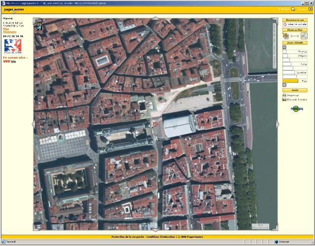 Vue haute résolution (grande échelle) de la Mairie de Lyon