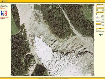 2- Le front d'un glacier, avec recul marqué