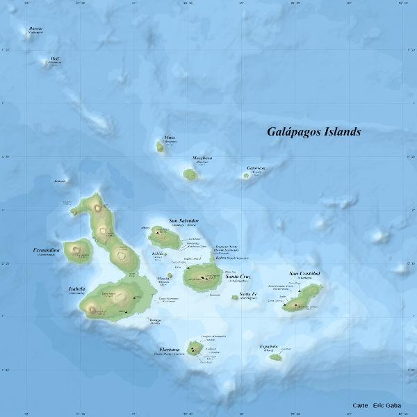 Géographie et topographie des iles Galapagos