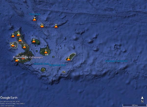 Les Galapagos, des iles volcaniques issues du fonctionnement d'un point chaud