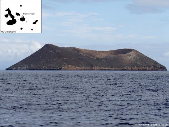 Le cratère de «tuf» surtseyien de l'ile Daphne Major