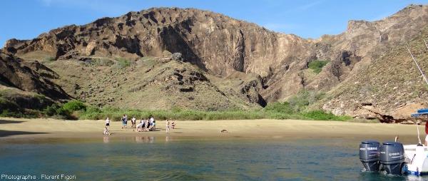 Passage de la zone costale à la zone aride sur l'ile San Cristobal