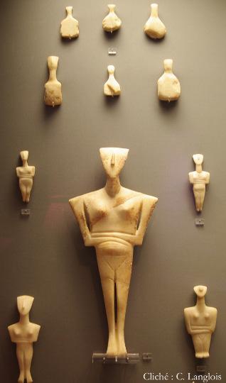 Statuettes cycladiques, Musée archéologique d'Athènes