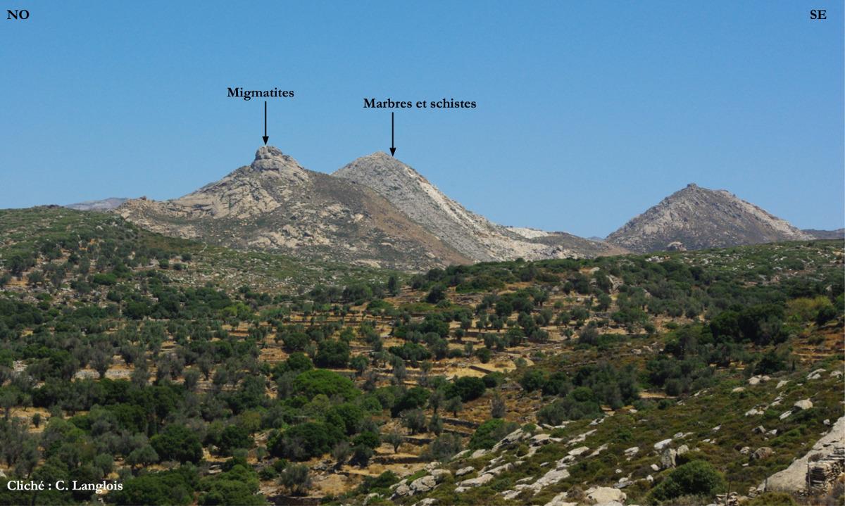 Contact entre les migmatites et les roches métamorphiques