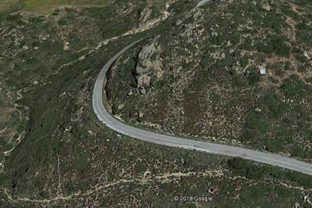 Des migmatites sont visibles au bord de la route qui relie Kourounochori à Kinidares dans la partie centrale de l'ile