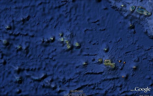 Vue générale de l'archipel de la Société