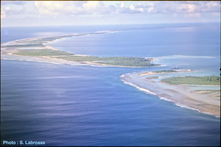 La passe de Tikehau vue d'avion