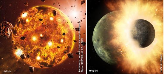 La formation des planètes par collisions successives