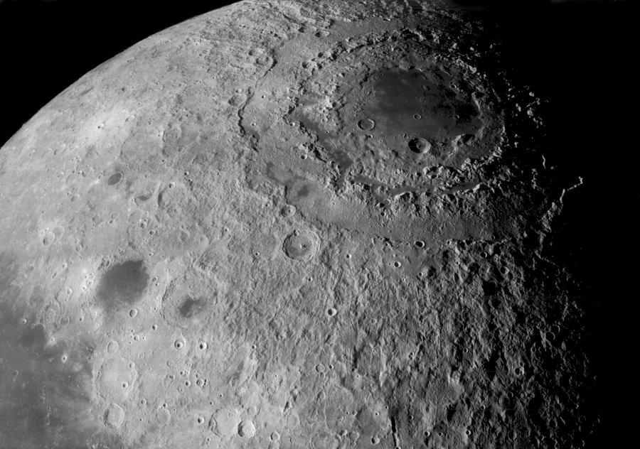"""Le bassin lunaire (""""caché"""") Orientale"""