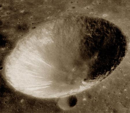 Morphologie interne d'un cratère en forme de bol parfait, Isidorus D sur la Lune
