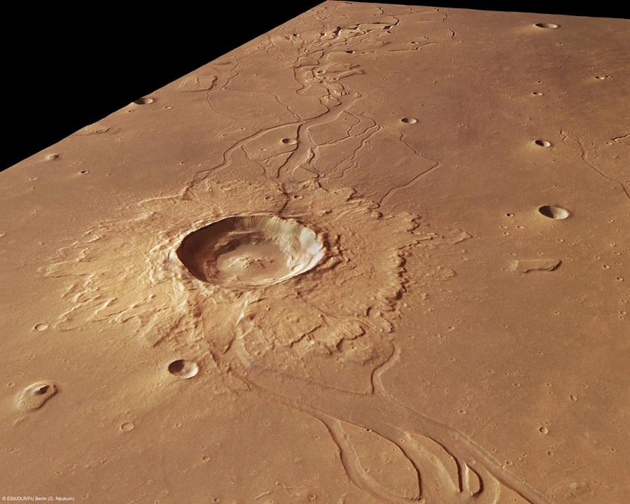 Cratère à éjectas lobés sur Mars