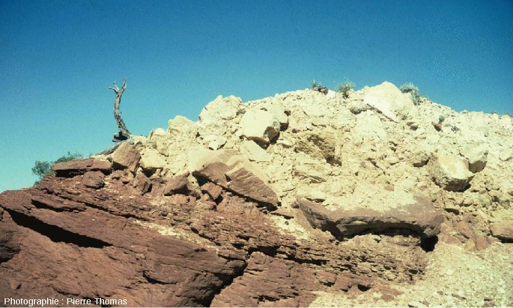 Les éjectas du Meteor Crater, Arizona