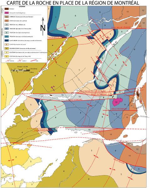 Carte Géologique de Montréal
