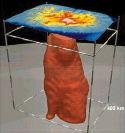 Panache islandais, vue tomographique 3D