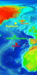 Localisation des sites des études géochimiques ci-contre