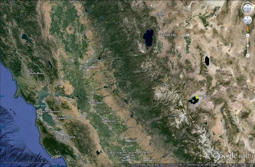 Situation du lac Mono (Californie)