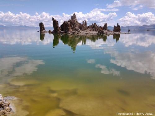Îlot de tufas émergés, lac Mono, Grand Bassin, Californie