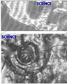Structures concentriques du cratère du Chicxulub révélées par l'étude des anomalies gravimétriques