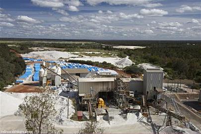 Usine de traitement du minerai et production du SC6, Greenbushes (Australie)