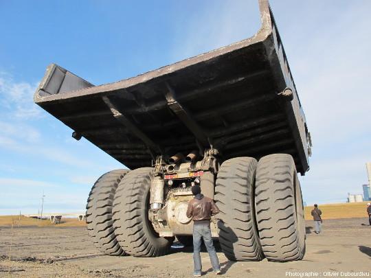 Camion minier, mine de charbon, Canada