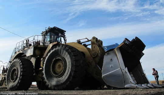 Chargeuse, mine de charbon, Canada