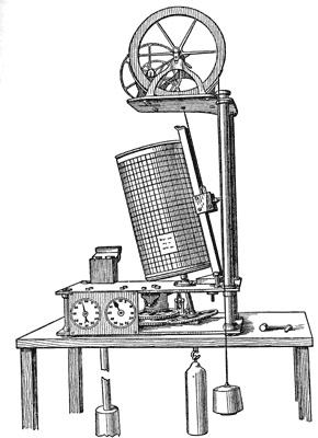 Schéma du marégraphe élaboré par Thomson