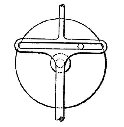 Mécanisme de conversion du mouvement rotatoire des engrenages en mouvement vertical sinusoïdal