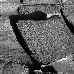 Vue de détail des fines laminations à l'Est de Burns Cliff dans Meridiani Planum