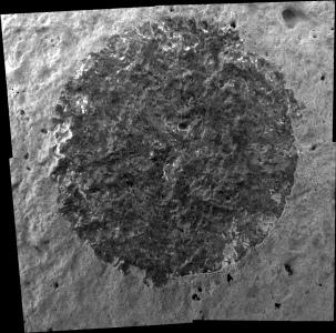 Vue générale sur la surface brossée sur Wishstone (diamètre de 5cm)