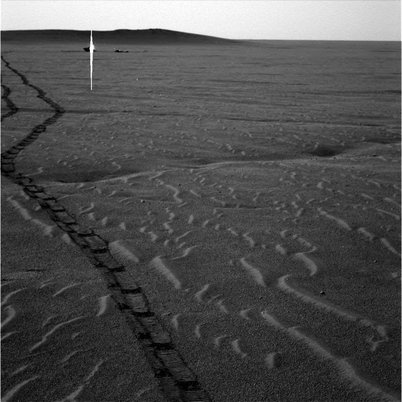 Un sillon énigmatique dans Meridiani Planum