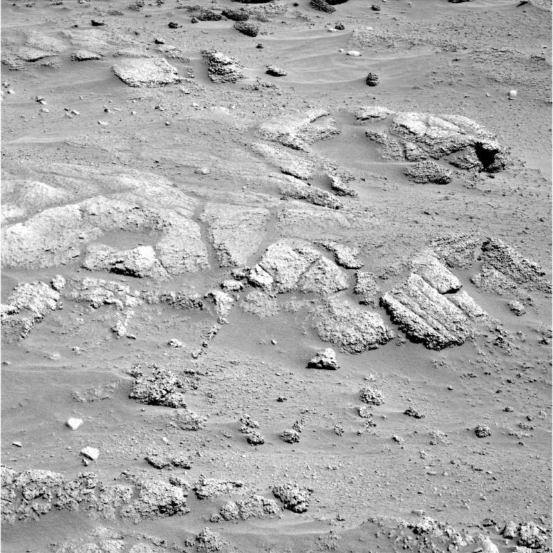 Vue d'ensemble des roches inhabituelles sur les Columbia Hills