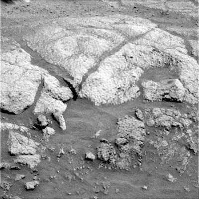 Vue rapprochée des roches inhabituelles sur les Columbia Hills