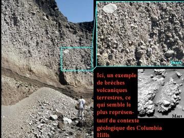 Comparaison entre la brèche volcanique du Tungurahua et la brèche de Husband Hill