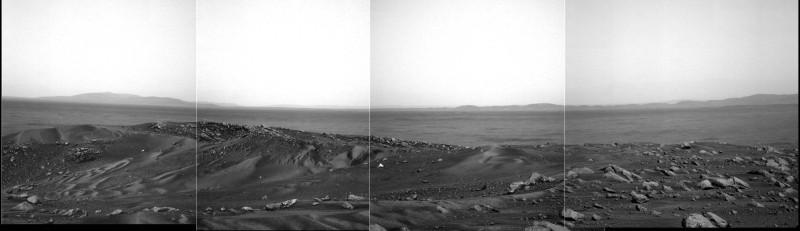Mosaïque d'images prise le sol 581 (21 août 2005) par Spirit