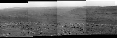 Mosaïque d'images prise le sol 583 (23 août 2005) par Spirit