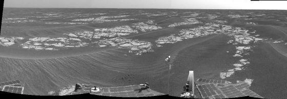 Les etched terrains, 13 septembre 2005, sol 582