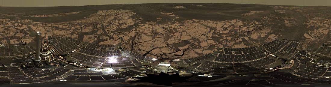 Panorama haute résolution (ici dégradé) nommé Erebus Rim