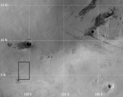 Contexte morphologique du paléo-lac d'Elysum Planitia, Mars