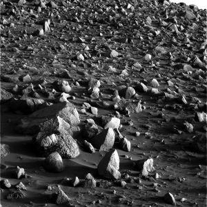Allure du sol martien sur lequel progresse Spirit
