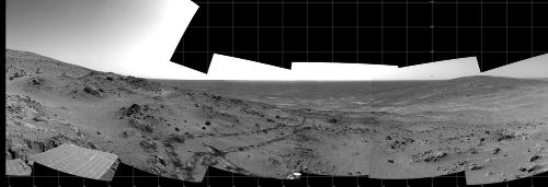 Panorama martien circulaire sur 360° (partie gauche)