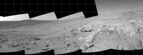 Panorama martien circulaire sur 360° (partie centrale)