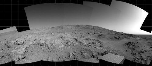 Panorama martien circulaire sur 360° (partie droite)