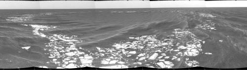 Le cratère Vostok, Mars