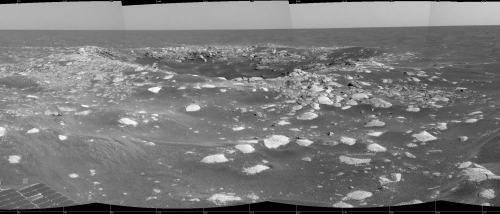 Le cratère Viking, Mars