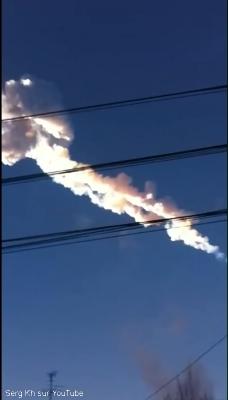 Trace du passage du météore de Tcheliabinsk
