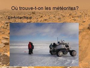 Découverte d'une météorite en Antarctique